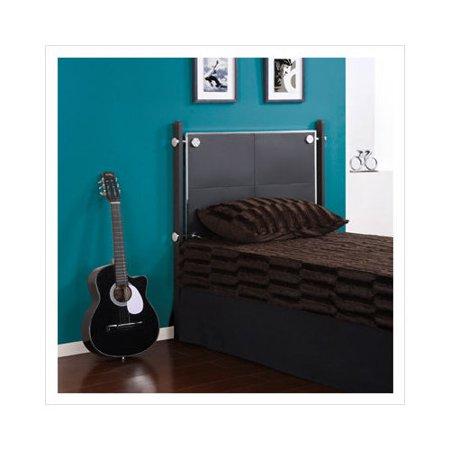 Powell furniture z bedroom headboard in textured black for Powell z bedroom furniture