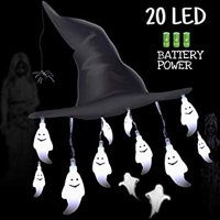 Halloween Decoration Lights, Halloween String Ghost Lights Battery Operated LED String Lights for Halloween Outdoor Indoor Decor