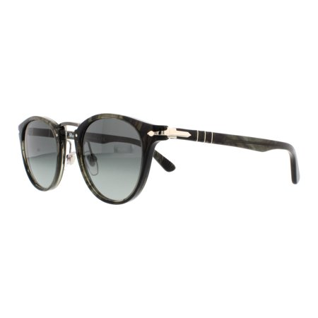 PERSOL Sunglasses PO3108S 102071 Striped Grey 47MM ()