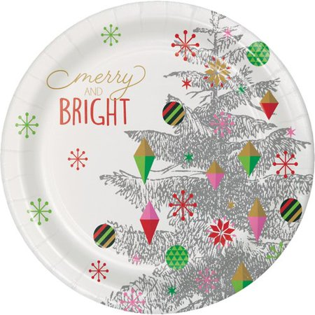 The Holiday Aisle Monahan Christmas Tree Paper Dessert Plate (Set of 24) for $<!---->