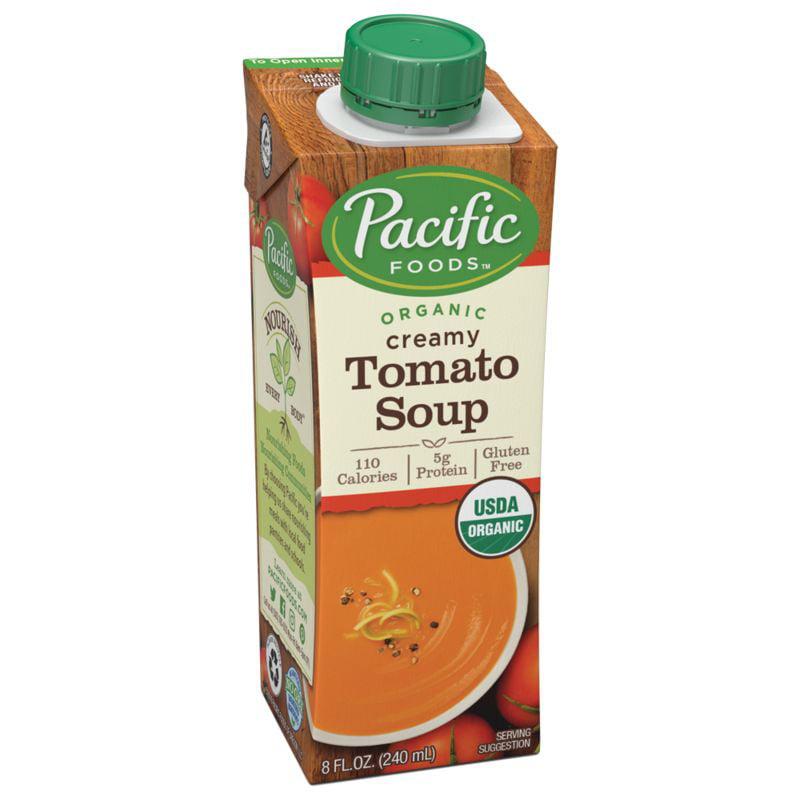 Pacific Foods Organic Creamy Tomato Soup, 8 fl oz, 12 count