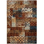 """Rizzy Home Multi Colored Rug In Polypropylene 3'3"""" x 5'3"""""""
