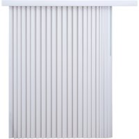 """Achim Home Furnishing Vertical Blinds, 78"""" wide by 84"""" long, Ribbed White Groove Texture"""