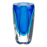Badash Azure Murano Style Art Glass Vase