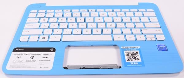 902956-001 Hp Aqua Blue Keyboard Us Palmrest  11-Y010NR 11-y011TU 11-Y010WM