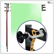 Manual Backdrop Support System with 3-Roller Wall Mount for Photography Background Control by Loadstone Studio WMLS0319