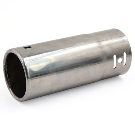 Unique Bargains Silver Tone 2 4  Inlet Dia 15Cm Long Outlet Exhaust Muffler Tail Pipe Tip