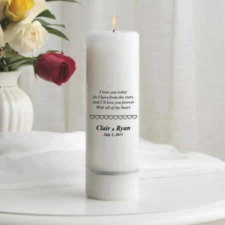 Personalized Wedding Unity Candle - Personalized 3