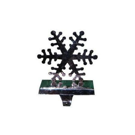 Silver Snowflake Stocking Holder 46