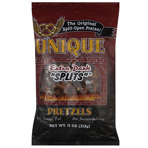 Unique Pretzel Extra Dark Splits, 11 oz (Pack of 12)