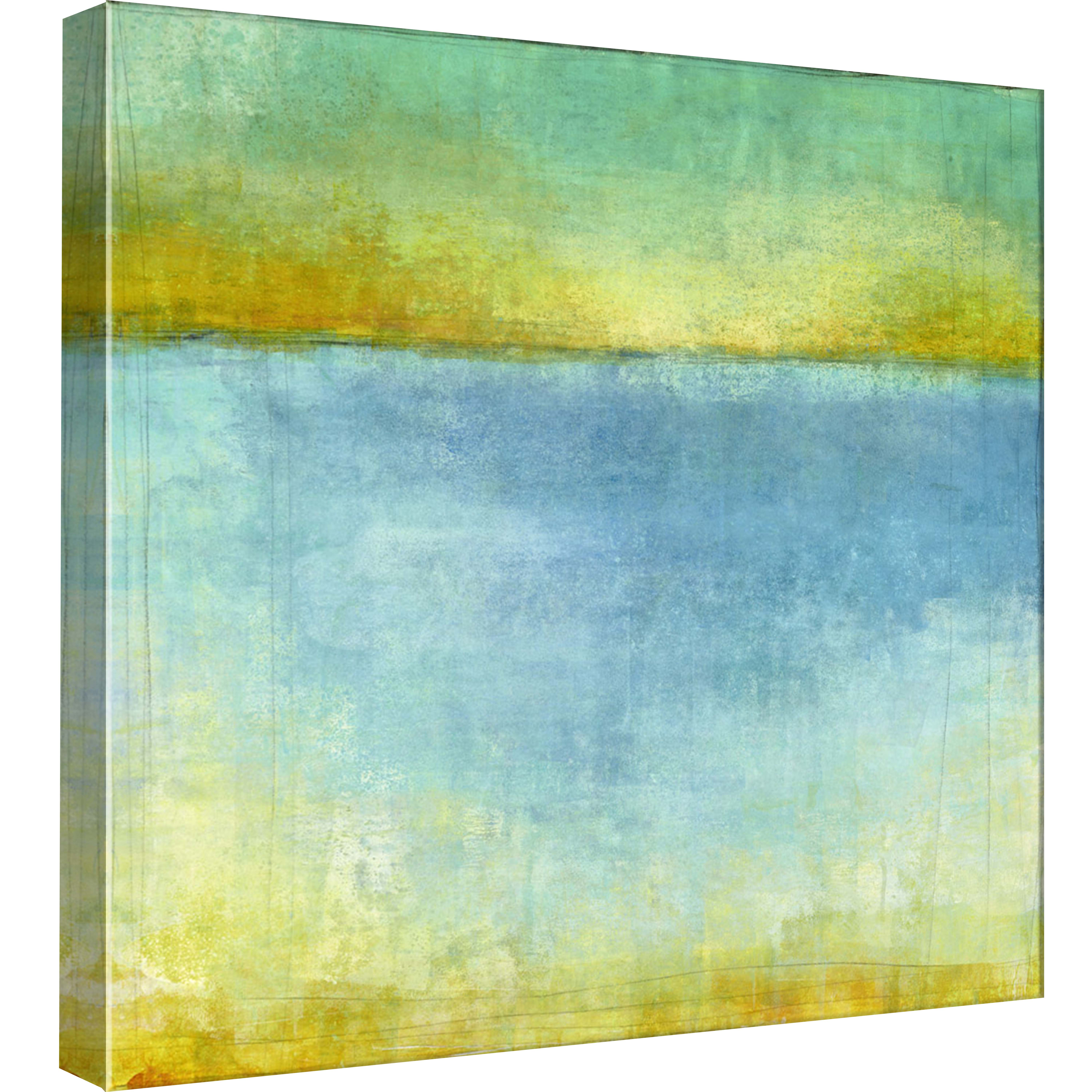 PTM Images,Abstract Sea II, 20x20, Decorative Canvas Wall Art