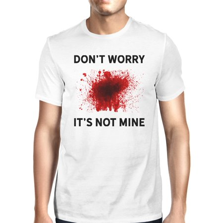 White T Shirt Halloween Blood (365 Printing Its Not Mine Blood Tshirt Mens White Short Sleeve Tee For)