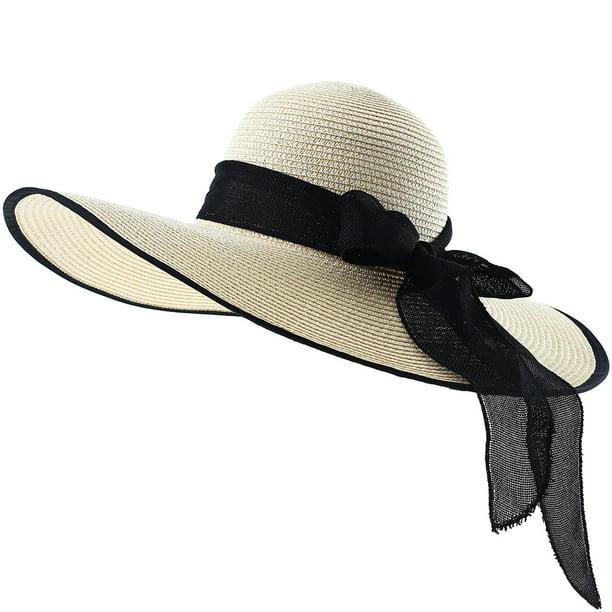 Fashion Women Summer Beach Hat Women Foldable Wide Large Brim Floppy Sun Hat