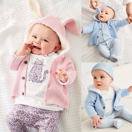 Knitted Outerwear - Newborn Toddler Kids Baby Girls Boy Clothes Knitted Sweater Coat Outerwear