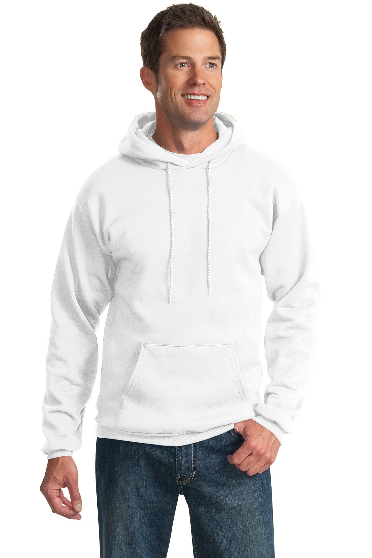 PC90HT XXX-Large Tall Athletic Heather Port /& Company Tall Pullover Hooded Sweatshirt