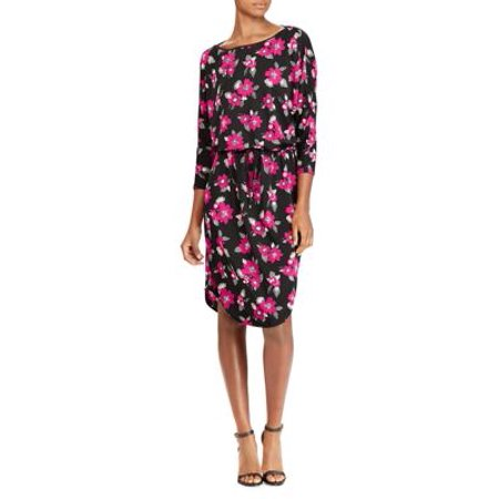 Multi Function Neck - Floral Stretch Jersey Blouson Dress