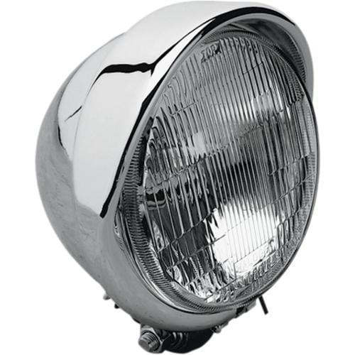 "Drag Specialties 5-3/4"" Headlight w/Built-In Visor"