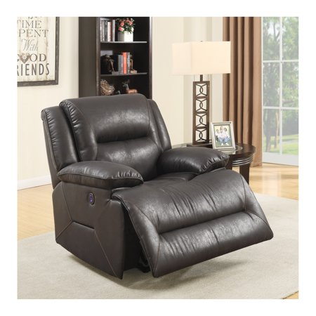 Prime Resources Porter Power Recliner W Usb  Badlands Eclipse