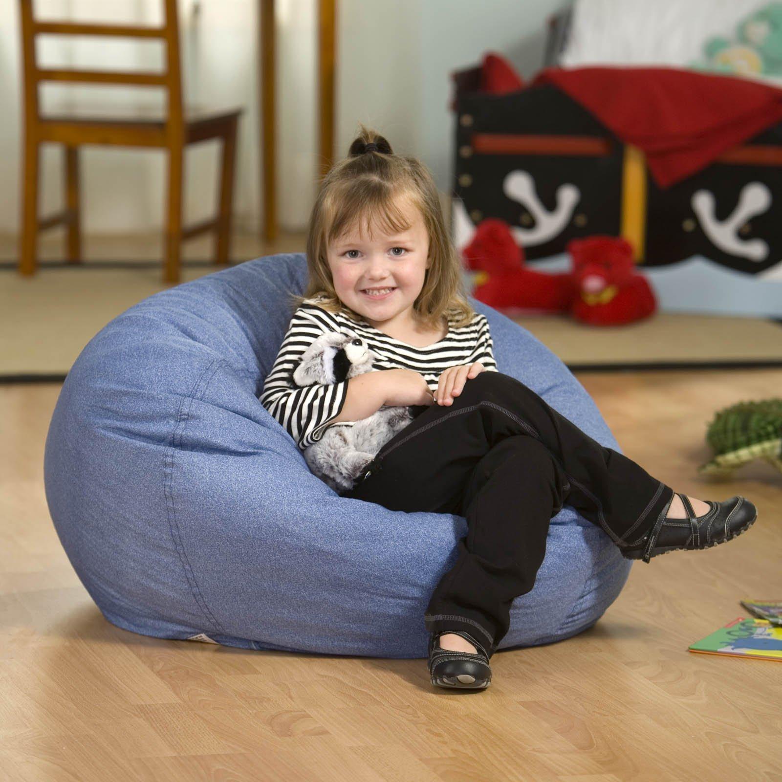 Small Denim Lounger Bean Bag Chair