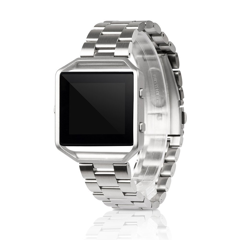 Smarit Fitbit Blaze Band, Stainless Steel Watch Band Replacement Wristband for Fitbit Blaze
