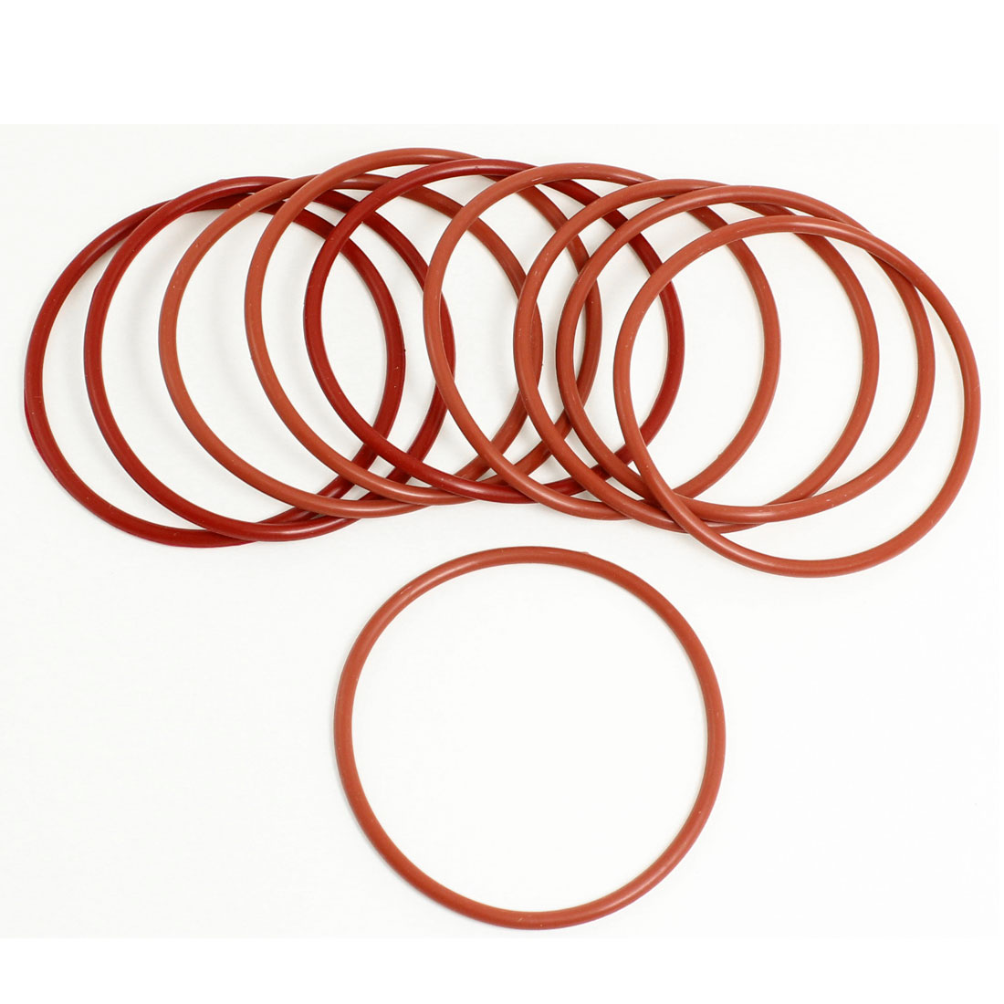 10 Pcs Soft Rubber O Rings Seal Washers Replacement Red 65mm x 3mm