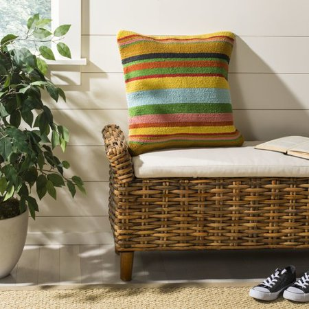 Bay Isle Home Holasice Striped Outdoor Throw Pillow Walmart Com