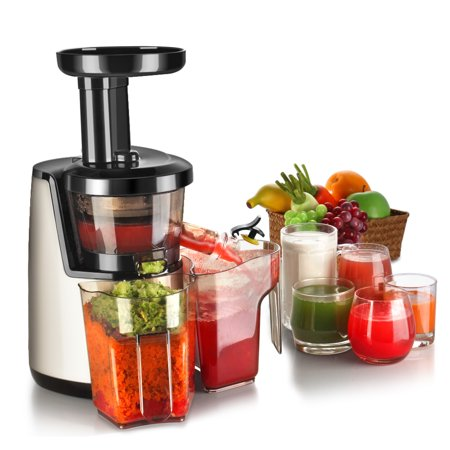 Cold Press Juicer Machine - Masticating Juicer Slow Juice Extractor Maker Electric Juicing ...
