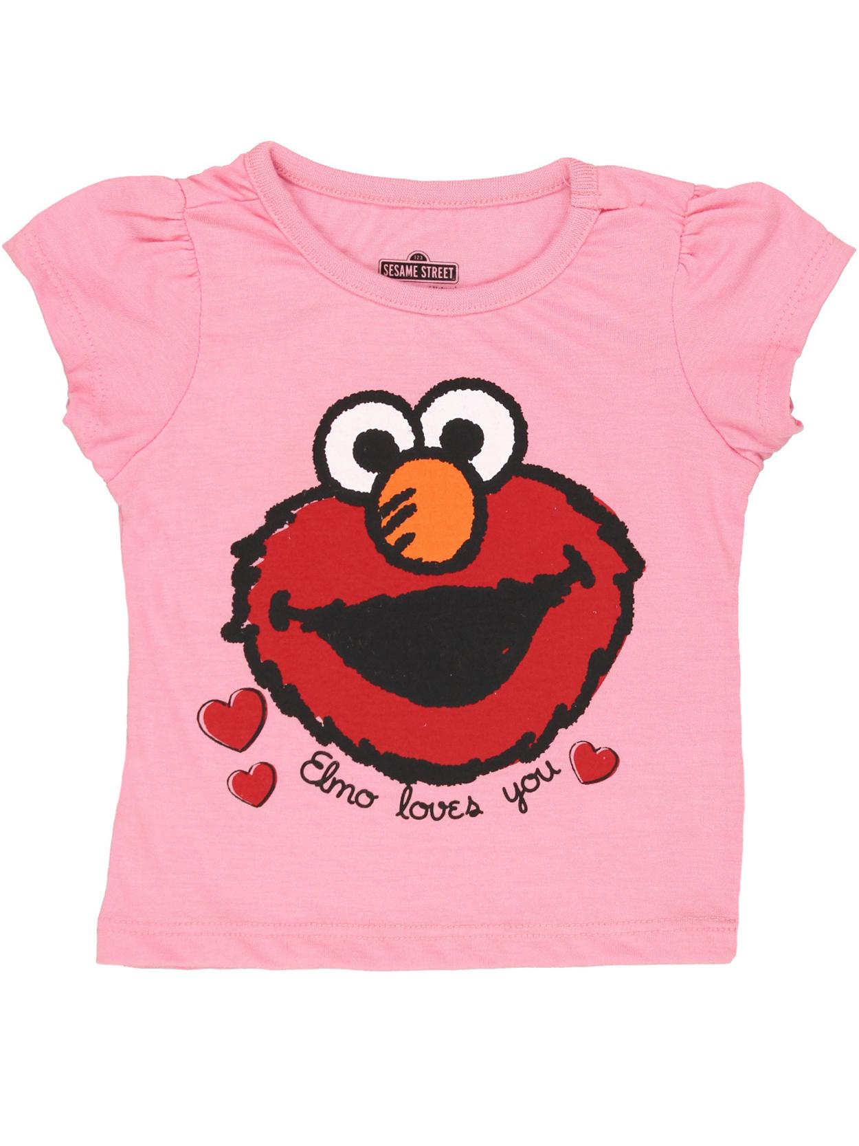 Sesame Street Elmo Girls Short Sleeve Tee 6SE5798