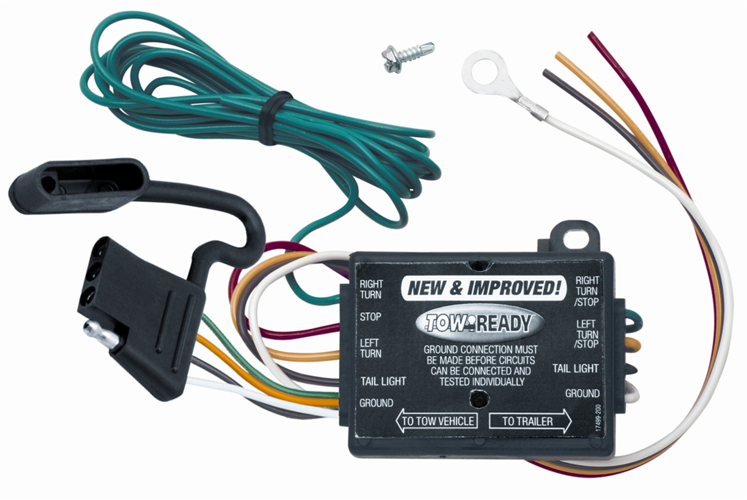 Tow Ready 119130-012 Trailer Light Converter; Incl. 12 in Leads; 60 in.  4-Flat Car End Connector; 12 Pack; - Walmart.com