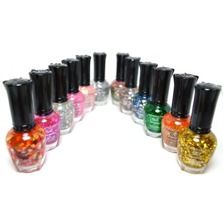Kleancolor Collection- full size ' Glitter' Manicure Nail Polish 12pc Set](Halloween Glitter Nail Polish)