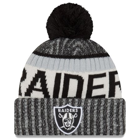 Oakland Raiders New Era 2017 NFL Official Sideline Sport Knit Hat - image 1 de 1