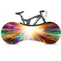 (Rainbow Light)Bike Cover Bicycle Wheel Cover Indoor Anti-dust Bike Storage Durable Wheel Cover Bike Storage Bag Rip Stop