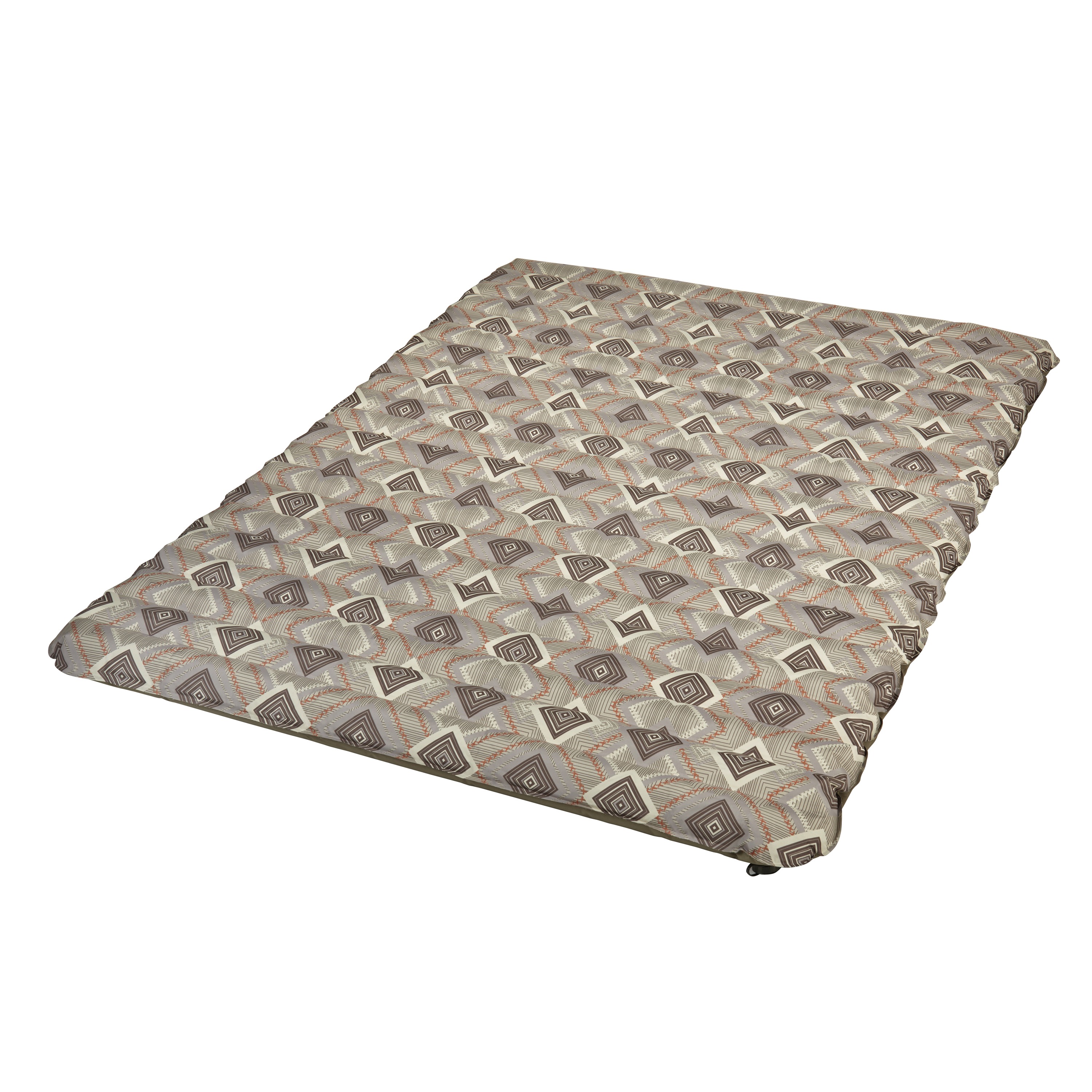 """Wenzel 4"""" Double neverFLAT Fabric Air Pad with Khaki Geo Print"""