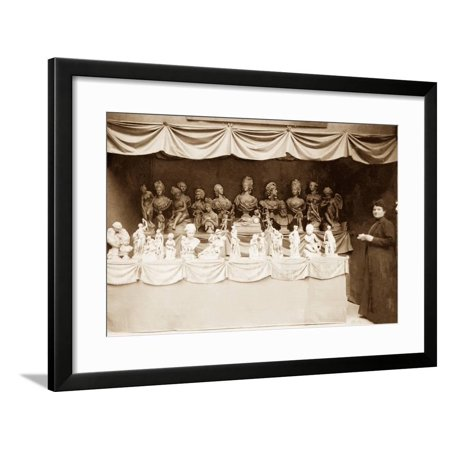 Sculpture in the Salon Des Beaux-Arts, Exposition Internationale, Paris, 1904 Framed Print Wall Art