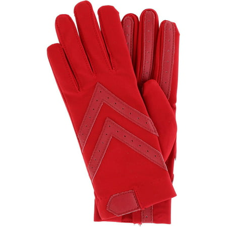 Women's Unlined Touchscreen Leather Palm Driving Gloves