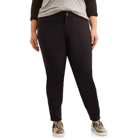 Just My Size Women's Plus Size 5 Pocket Stretch Jean, Also in Petite Miss Me Flap Pocket Stretch Jean