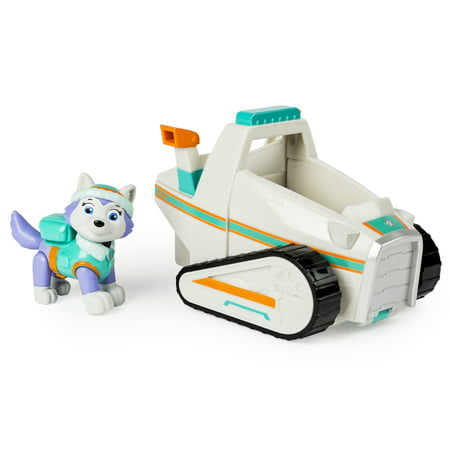 Paw Patrol Everest's Rescue Snowmobile, Vehicle and Figure - Ryder From Paw Patrol