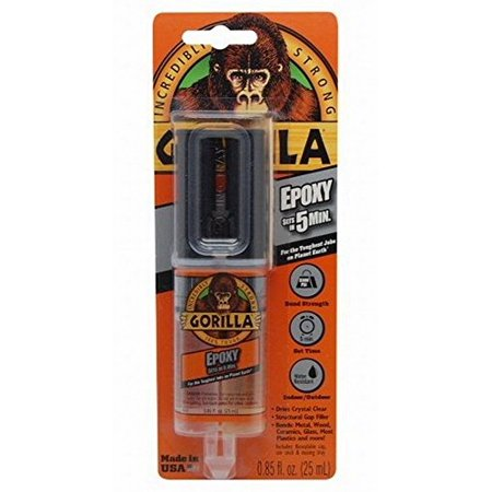 Gorilla Glue 4200101 12 Pack 25 ml Gorilla Epoxy Syringe