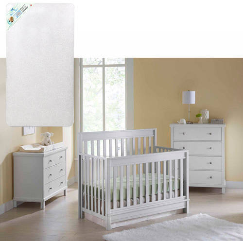 Sealy Bella 4-in-1 Crib with Sealy Ortho Rest Mattress