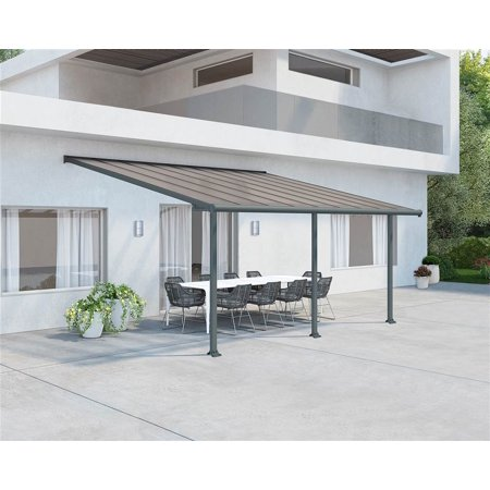 Palram Olympia 10 x 18 ft. Patio Cover Awning