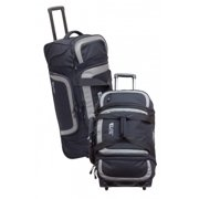 Elite Survival Systems Travel Prone Check-Mate Rolling Gear Bag, Black/Gray 6010