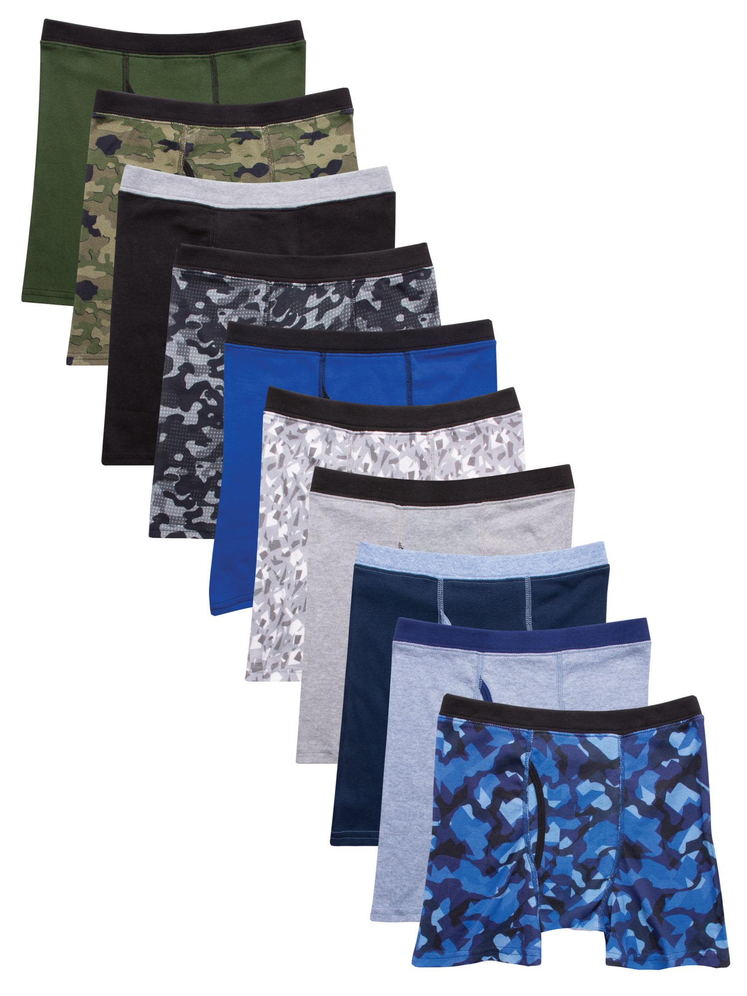 Hanes Boys' 10pk Camo Soft Comfort Boxer Briefs - Colors Vary S