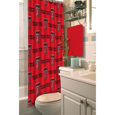 Texas Tech Red Raiders Fabric Shower Curtain 72x72