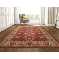 product image ottomanson ottohome collection traditional persian oriental floral design non slip rubber backing area or runner