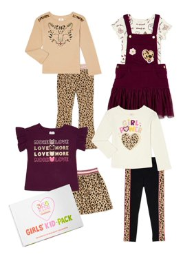365 Kids From Garanimals Girls Mix & Match Kid-Pack Gift Box, 8-Piece Outfit Set, Sizes 4-10