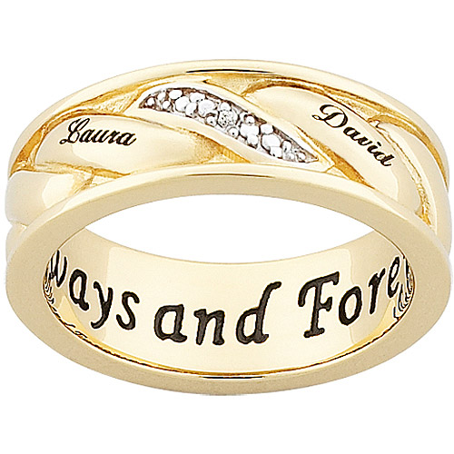 Men's Personalized Two-Tone Diamond Couple's Band