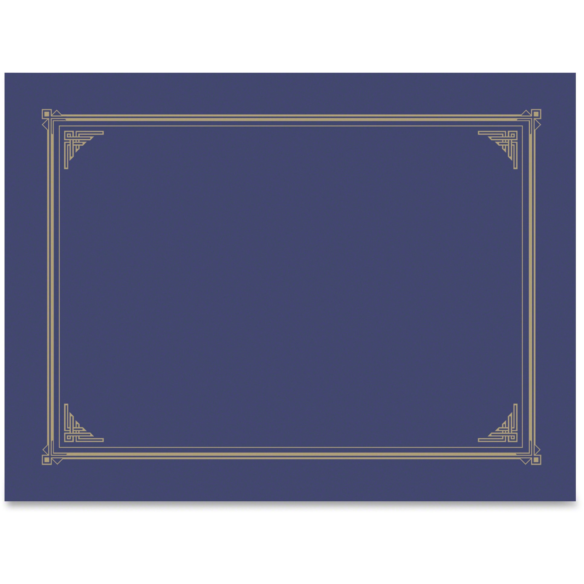 Geographics, GEO47401, Award Certificate Gold Design Covers, 6 / Pack, Metallic Blue