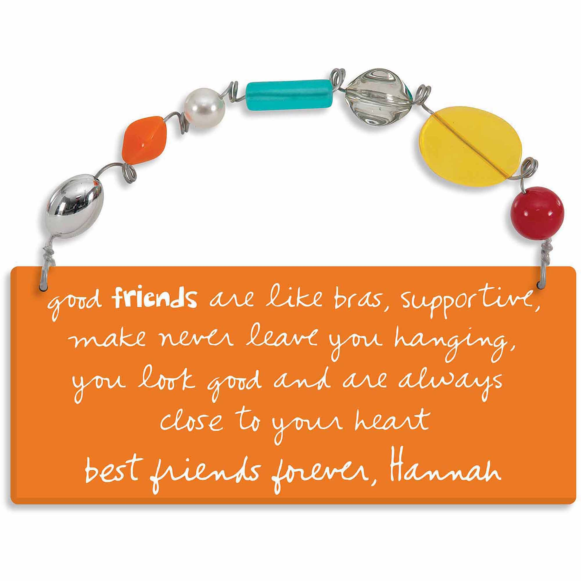 Personalized Sandra Magsamen Good Friends Are Like Bras Wall Plaque