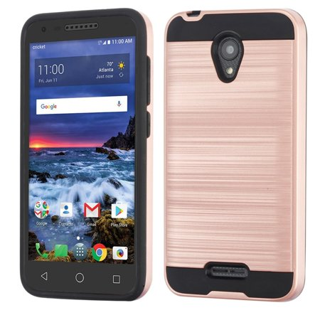 Cameo X/idealXCITE/U50/Verso Case, by Insten Dual Layer [Shock Absorbing] Hybrid Brushed Hard Plastic/Soft TPU Rubber Case Cover For Cameo X/idealXCITE/U50/Verso, Rose Gold/Black - image 4 de 4