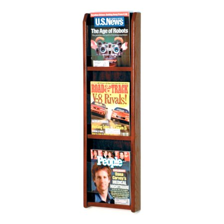 Overlapping Magazine Display - Wooden Mallet Divulge 3 Magazine Wall Display